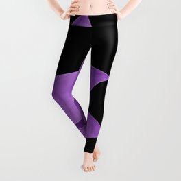 Agave Finesse #10 - Purple on Black #tropical #decor #art #society6 Leggings