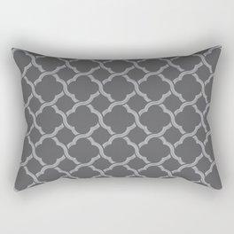 Grey Trellis Rectangular Pillow