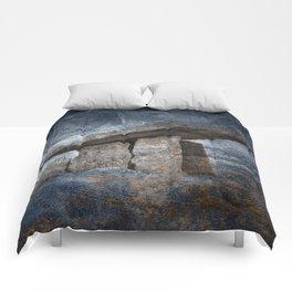 Poulnabrone Dolmen - Blue Winter Grunge Comforters