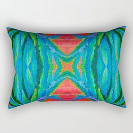 WESTERN MODERN ART OF BLUE AGAVES RED-TEAL Rectangular Pillow