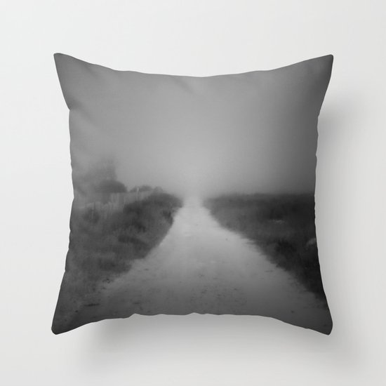 The road to nowhere Throw Pillow