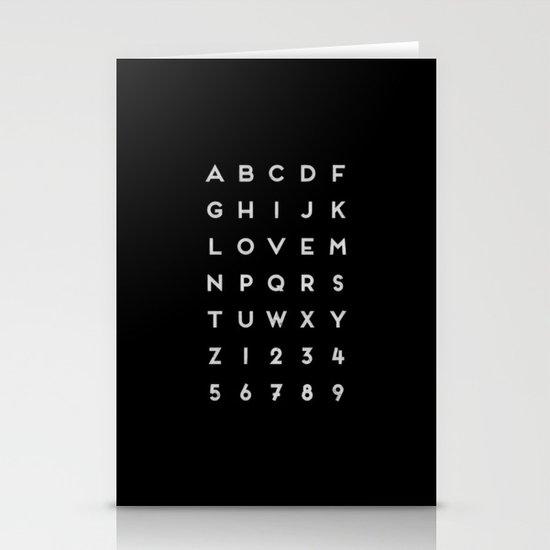 Letter Love - Black Stationery Cards