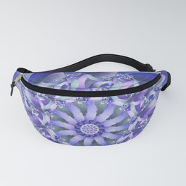 Ever Expanding Mandala in Blue and Purple Fanny Pack