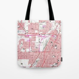 Vintage Map of Las Vegas Nevada (1967) 3 Tote Bag