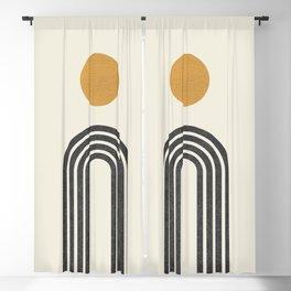 Mid century modern gold Blackout Curtain