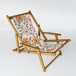 70s Floral Theme Sling Chair