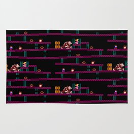 Donkey Kong Retro Arcade Gaming Design Rug