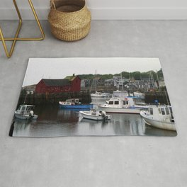 Rockport Inner Harbor With Lobster Fleet And Motif No.1 Rug