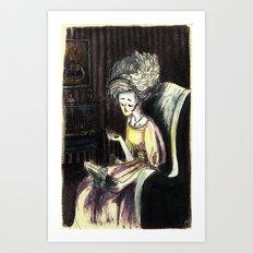 les souvenirs Art Print