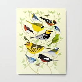 New World Warblers 3 Metal Print