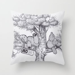 A place to chillax Throw Pillow