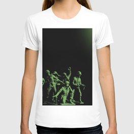 Plastic Army Man Battalion Black and Green T-shirt