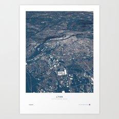 Lyon - City Map Art Print