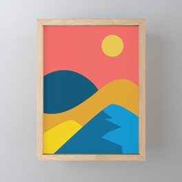 View from the height - Mountains Framed Mini Art Print
