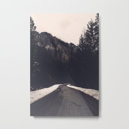 Foggy Forest Road - Lets Get Wild Nature Photography Metal Print