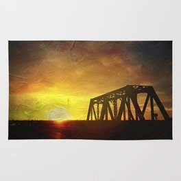 Bridge at Sunset Rug