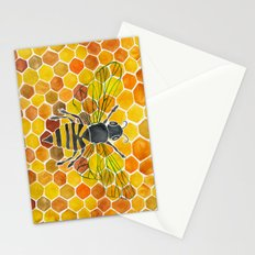 Bee & Honeycomb Stationery Cards