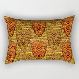 Shield Face Tiki Rectangular Pillow