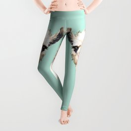 Bubble Gum Sneaky Llama in Green Leggings