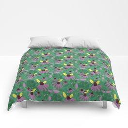 Purple Pink Prickle Comforters