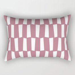 Dusty pink and white abstract shapes pattern Rectangular Pillow