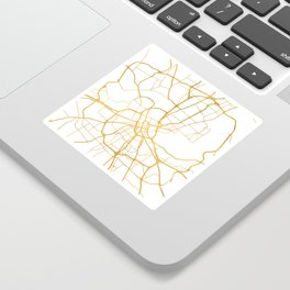 NASHVILLE TENNESSEE CITY STREET MAP ART Sticker