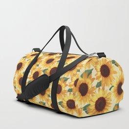 Happy Yellow Sunflowers Duffle Bag