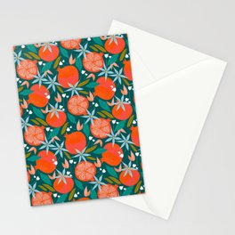 Summer Pomegranate, Tropical Fruit Illustration, Colorful Eclectic Bohemian Juicy Summer Botanical Stationery Cards