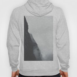 Landscape Photography Misty Grey Sea Cliffs Hoody