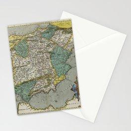 Vintage Map - Ortelius: Theatrum Orbis Terrarum (1606) - Kingdom of Spain Stationery Cards