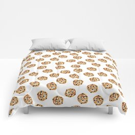 Pattern design with chocolate chip cookies Comforters