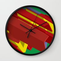 3d Wall Clocks featuring 3D by John VanHouten