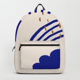Cloud, rain, rainbows Backpack
