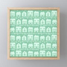 Cottage Charm in Peppermint Green Framed Mini Art Print
