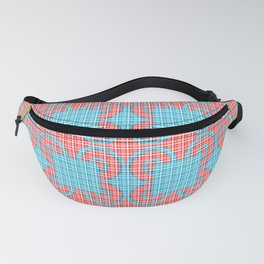 Blue Squares Pattern Fanny Pack