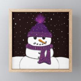 The Armless Snowman Framed Mini Art Print