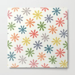 Stylized Flower Pattern 2 Metal Print