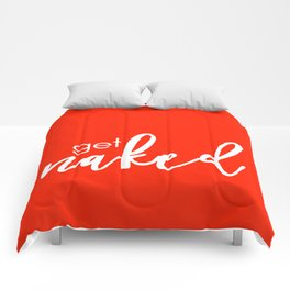 Get Naked // White on Red Comforters