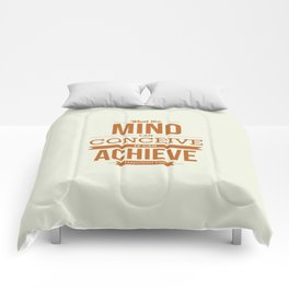 Lab No. 4 - It can Achieve Napoleon Hill Inspirational Quotes Poster Comforters