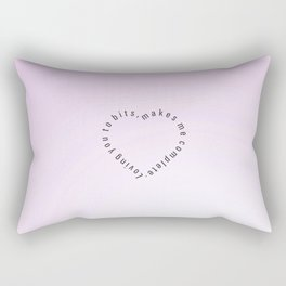 Heartbits  #society6 #heart #love #buyart Rectangular Pillow