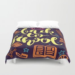 Colorful Back to School Education Duvet Cover