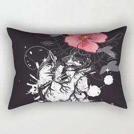 Anatomical heart with flower Rectangular Pillow
