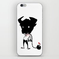 bull iPhone & iPod Skins featuring bull by Negative Dragon