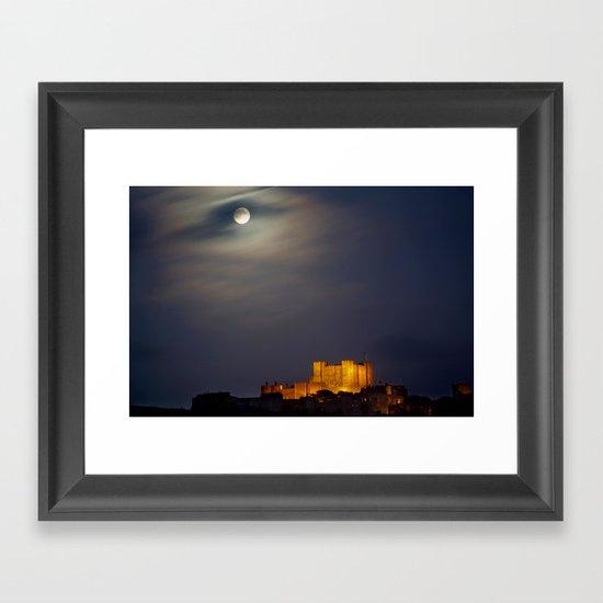 Full Moon over Dover Castle Framed Art Print