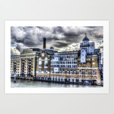 Butlers Wharf London Art Print