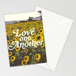 Love One Another Sunflowers Stationery Cards