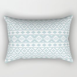 Aztec Essence Ptn IIIb Duck Egg Blue & White Rectangular Pillow