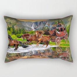 Wells Fargo Stagecoach Rectangular Pillow
