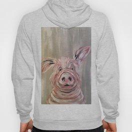 Pig Print, Pig Art, Funny Pig, Pig Painting Hoody