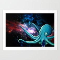 octopus astronaut  Art Print